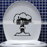 Best Price Fashion NEW Toilet Seat Wall Sticker Vinyl Mushroom Cloud Wallpaper Removable Bathroom Washroom Decal Home Decoration