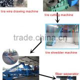 Waste tire recycling plant for sale / used tire shredder machine / XK-560 two roller tyre crusher
