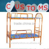 school daycare dormitory furniture oriange steel bed frame