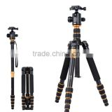 Q668 High quality 360 degree rotate camera tripod, 61'' portable compact phone stand holder digital DSLR camera tripod