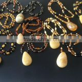Natural Baltic Amber pendant necklaces size 15-30 grams