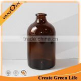 Empty Glass Moulded Medicinal Injection Brown Bottle 100ml
