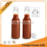 Orifice Reducers Cap Hot Sauce Glass Bottle 150ml