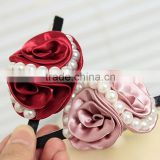 Hot Lovely Wedding Roses With S Simulated Pearl Barrettes Hairclip Bridal For Women Girls Hair Accessories