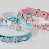 Wholesale letters studded leather dog collars