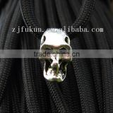 3D Antique Silver Alloy Skull Beads For Paracord Bracelet Outdoor Camping Hiking Skull For Paracord Suvival Bracelet Charm