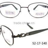 Metal with stone temple gun color beauty women latest design spectacle eyewear frames