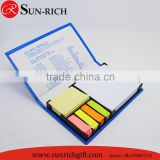 Wholesale bulk promotion sticky notes set in plastic box 5 colors label notepad