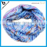 blue color colorful stripe latest infinity tube scarves