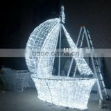 New Products 2016 led waterproof decorative sailing boat motif lights for Outdoor Decoration