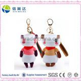 Custom soft plush panda keychain toy