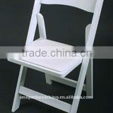 Wholesale padded white resin folding chair