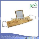 Relaxdays Bamboo Tub Caddy Bamboo Bath Tub Tray