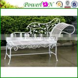 Hot Selling High Quality Metal Framed Antique Folding lounge Chairs Coaster outdoor Furnishings Contemporary Chaise, White