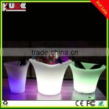 CE Approval Plastic Party Events Club Bar Used Illuminated LED plastic Ice Bucket for beer wine bottle