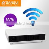 Top Quality Built-in Battery 12000mA Short Throw Wide Angle Android 4.2 Wifi mini projector 1080p