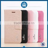 LZB Silk grain series PU leather Flip wallet stand case cover for Alcatel One Touch Pop C1 OT-4015