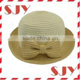 Bow Tie Design Women summer beach hat straw sun cap