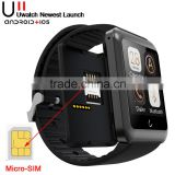 New Bluetooth Smart Watch U11 Uwatch Smartwatch Wristwatch Handsfree Anti-Theft Support SIM Card for ios Android Mobile Phone
