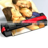 own backlight CIS Sensor type support 32GB SD card USB and batteries power portable feed scanner