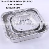 The disposable aluminium foil tray with cake baking