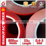 High viscosity Grey VHB Acrylic Tape Self adhesive with Plastic Tubes cores