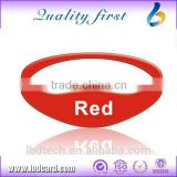 Low Price Large Capacity Free Sample 1 Inch Silicone Wristbands Red Bracelet Bracelet Smart Factory Wholesale