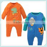 New Baby long sleeve clothing new born boys and girls rompers Striped animal prints jumpsuit infant toddler costume