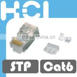 Network Solution RJ45 8P8C Cat 6 Shielded STP Gold Plated Modular Plug