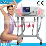2014 hot sale laser liposuction machine /free shipping lipo laser / new lipo laser physiotherapy equipment