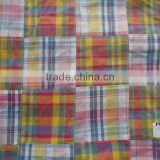 100%Cotton Madras Check patchwork fabric
