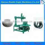 waste tyre recycling machine/ double sidewall cutting machine/ tire block cutter