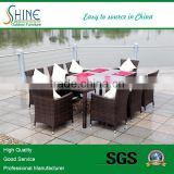 outdoor glass top dining table with 8 dining chairs SOF1028