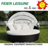 good quality rattan double sun lounger