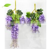 GNW FLV24 Wholesale China Market Wedding use Artificial Flower for Wall Decoration 3ft White Wisteria Vine