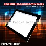 Ajustable brightness LED Tracing Copy Board/LED fluorescent drawing board/ LED copy board A3
