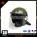 Security Guard Equipme 3mm PC Glass Face Shield Police Anti Riot Helmet Military Helmet Visor