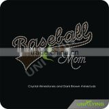 Custom baseball MoM rhinestone transfers