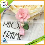 2015 fashion ,beautiful and cute ribbon hair clip , flower hair clip for kids