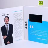 Newest Design 4.3 Inch LCD Advertising Video Brochure for Business Invitation