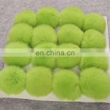Top grade big rabbit fur ball wholesale genuine rabbit fur puff accessory