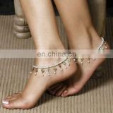 Summer Hot Sale 2017 Pearl Beads Mosiac Rhinestone Tassels Elasticity Simple Fashion Trendy Bohemian Anklet