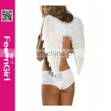 No moq China supplier cheap white angel wing decoration paypal accepted