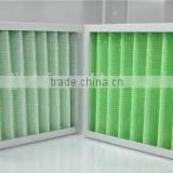 cardboard aluminium air conditioning replacement merv 8 11 15 g4 pleated synthetic fiber media panel filter