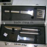Aluminum frame fireproof hard shell sturdy bbq tool set with aluminium case at factory price