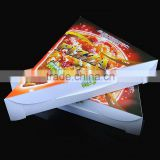 corrugated paper triangle pizza box, Disposable triangle sandwich box, fast food packing box