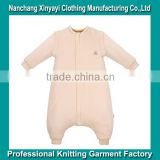 OEM Organic cotton baby sleeping bag with thickening romper cent leg bag stop baby kick