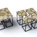 2015 Best selling mosaic split side table home furniture sets                                                                         Quality Choice