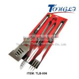 Professional-Grade Stainless-Steel 3-Piece Barbeque Tool Set BBQ Grilling Tools TLB-006