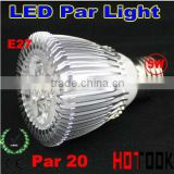 Dropship CE & RoHS E27 5W 5 * 1W Par 20 LED Bulb Lamp Light 85-256V with 5 LEDS Light warranty 2 years -- free shipping
